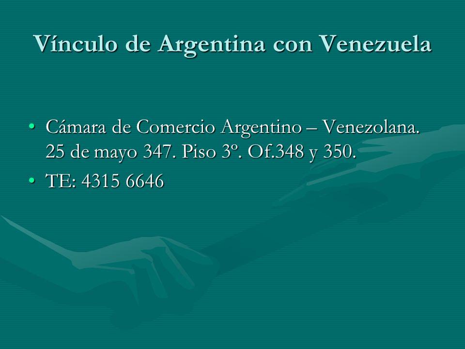 Vínculo de Argentina con Venezuela