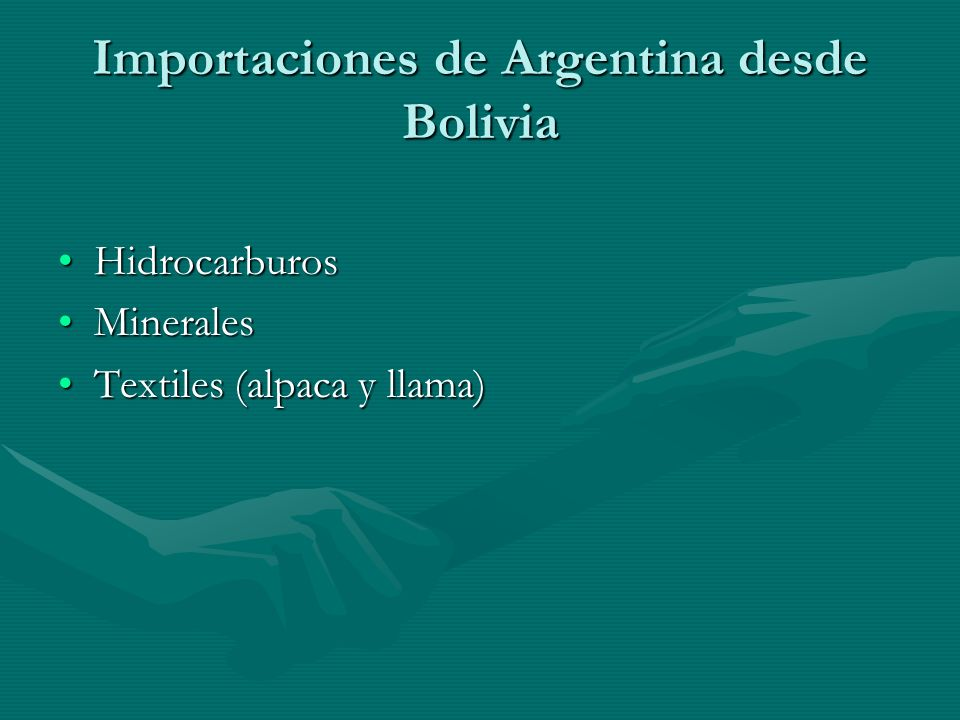 Importaciones de Argentina desde Bolivia