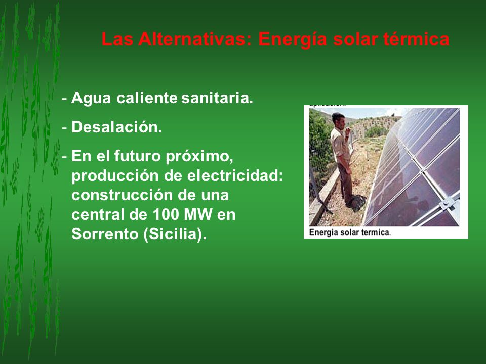 Las Alternativas: Energía solar térmica