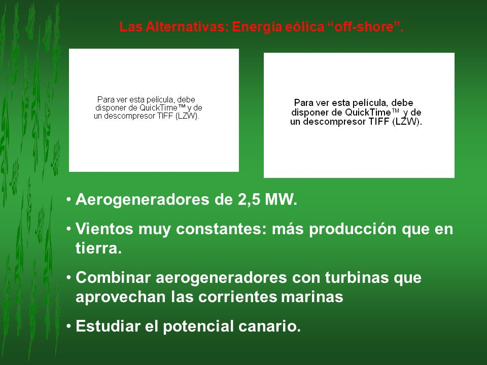 Las Alternativas: Energía eólica off-shore .