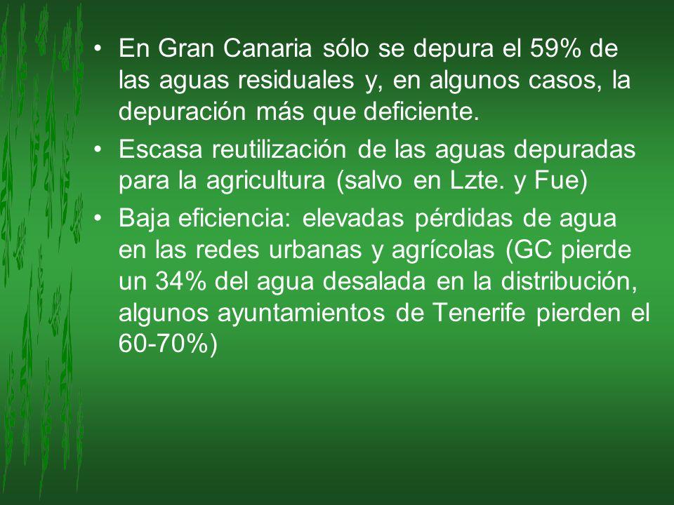 En Gran Canaria sólo se depura el 59% de las aguas residuales y, en algunos casos, la depuración más que deficiente.