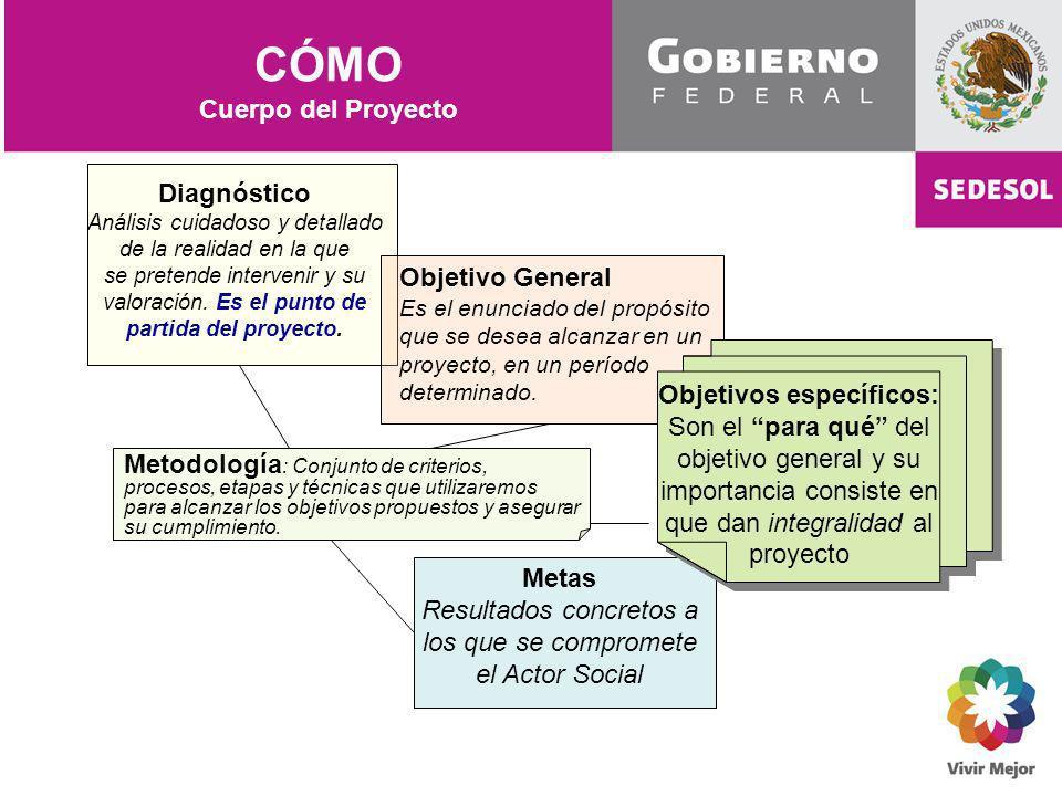 CÓMO Cuerpo del Proyecto Diagnóstico Objetivo General