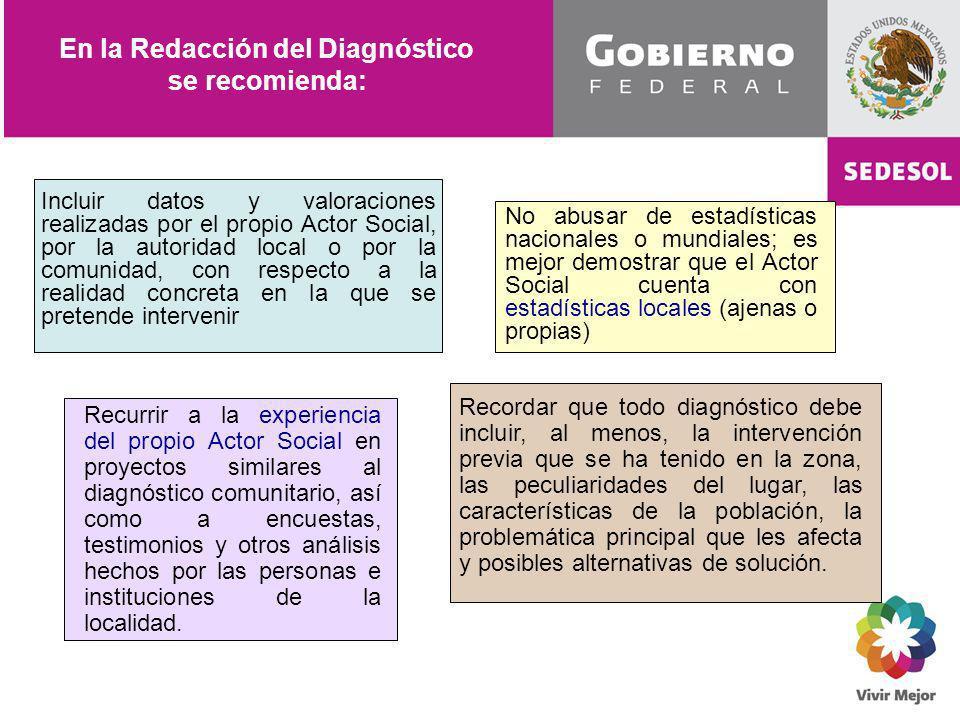 En la Redacción del Diagnóstico