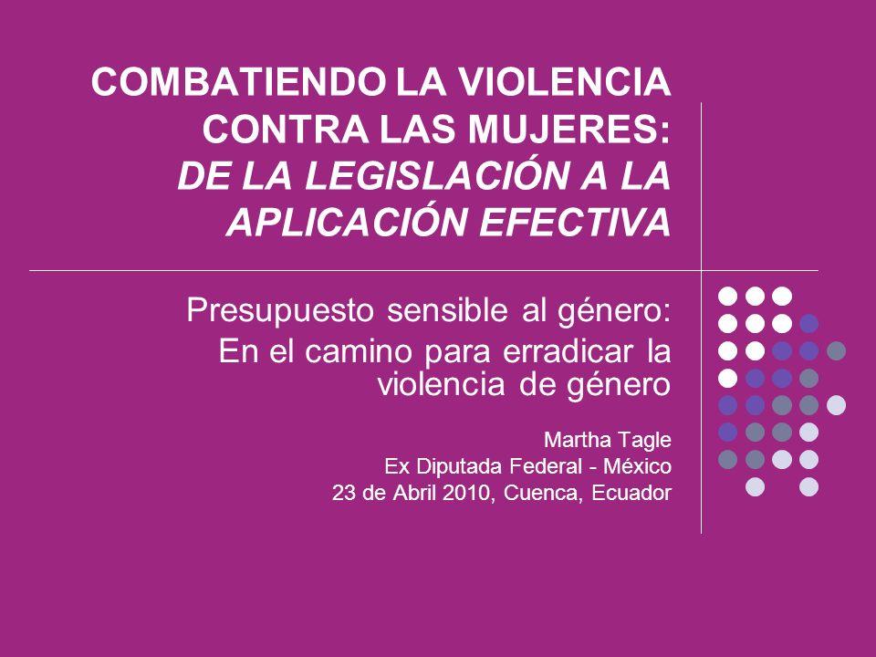 COMBATIENDO LA VIOLENCIA CONTRA LAS MUJERES: DE LA LEGISLACIÓN A LA APLICACIÓN EFECTIVA