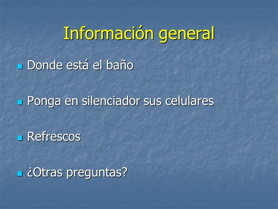 Información general Donde está el baño
