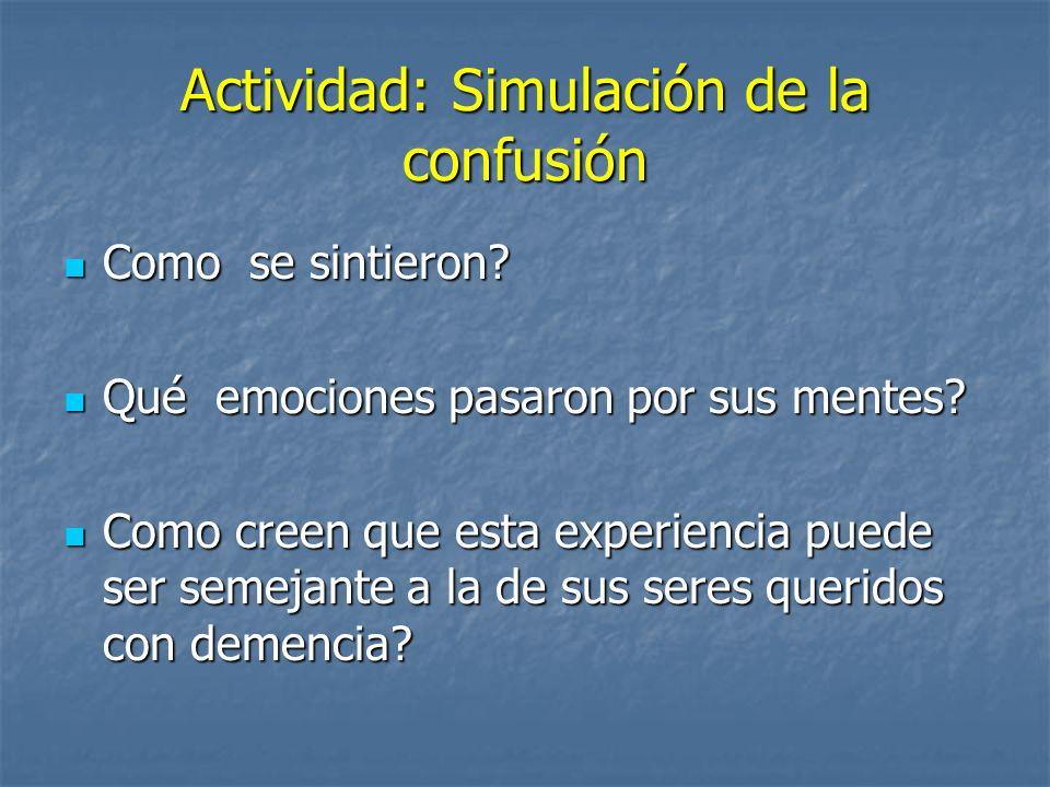 Actividad: Simulación de la confusión