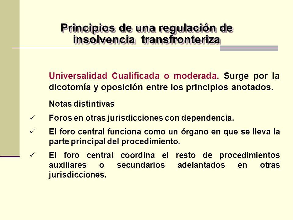 Principios de una regulación de insolvencia transfronteriza