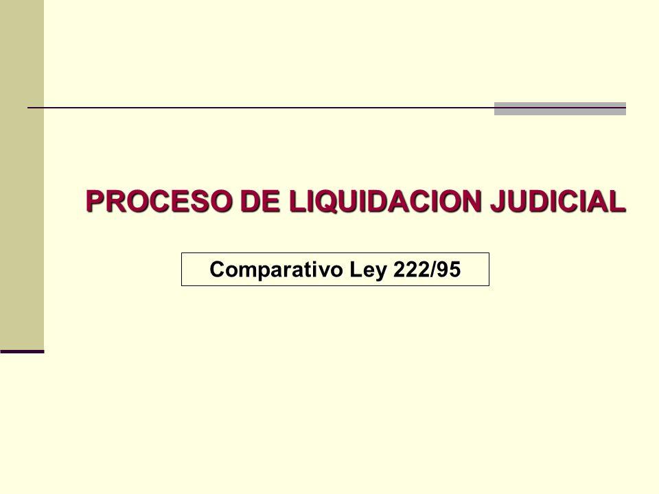 PROCESO DE LIQUIDACION JUDICIAL