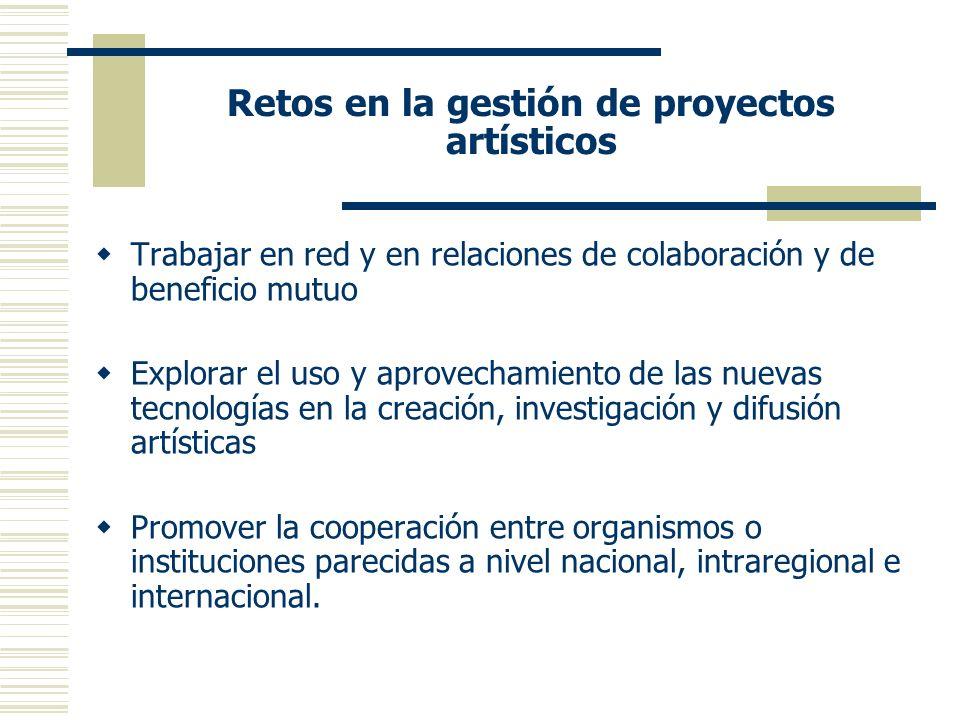 Retos en la gestión de proyectos artísticos