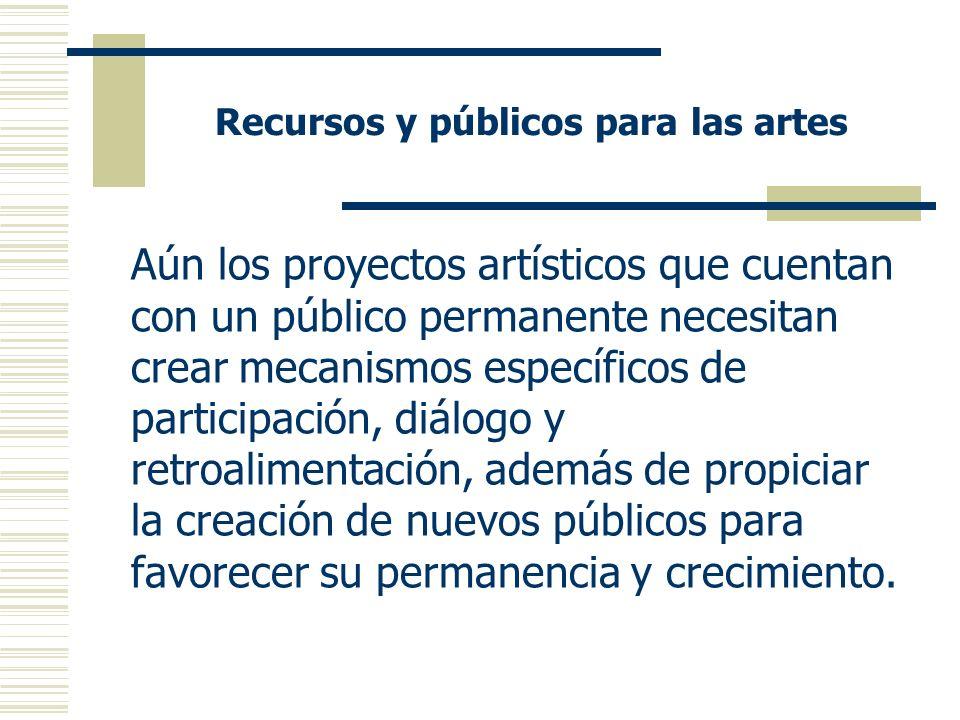 Recursos y públicos para las artes