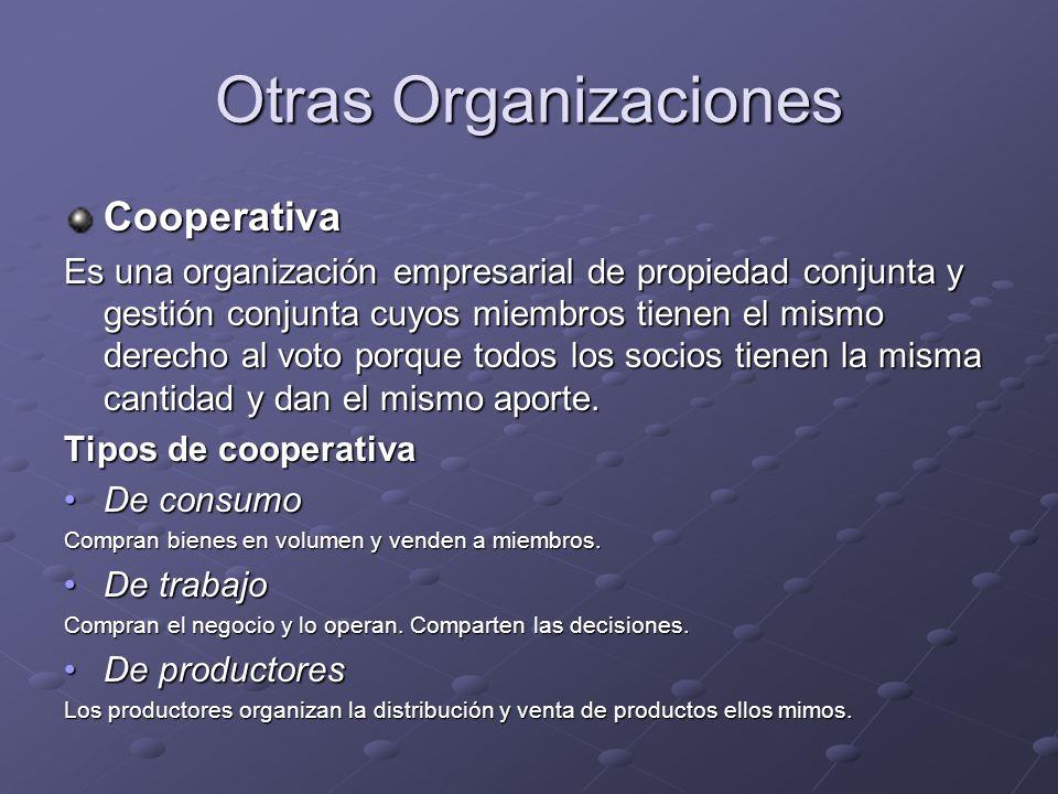 Otras Organizaciones Cooperativa