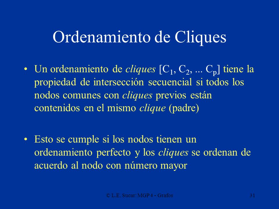 Ordenamiento de Cliques