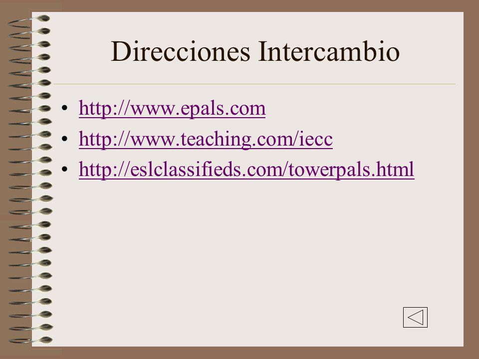 Direcciones Intercambio