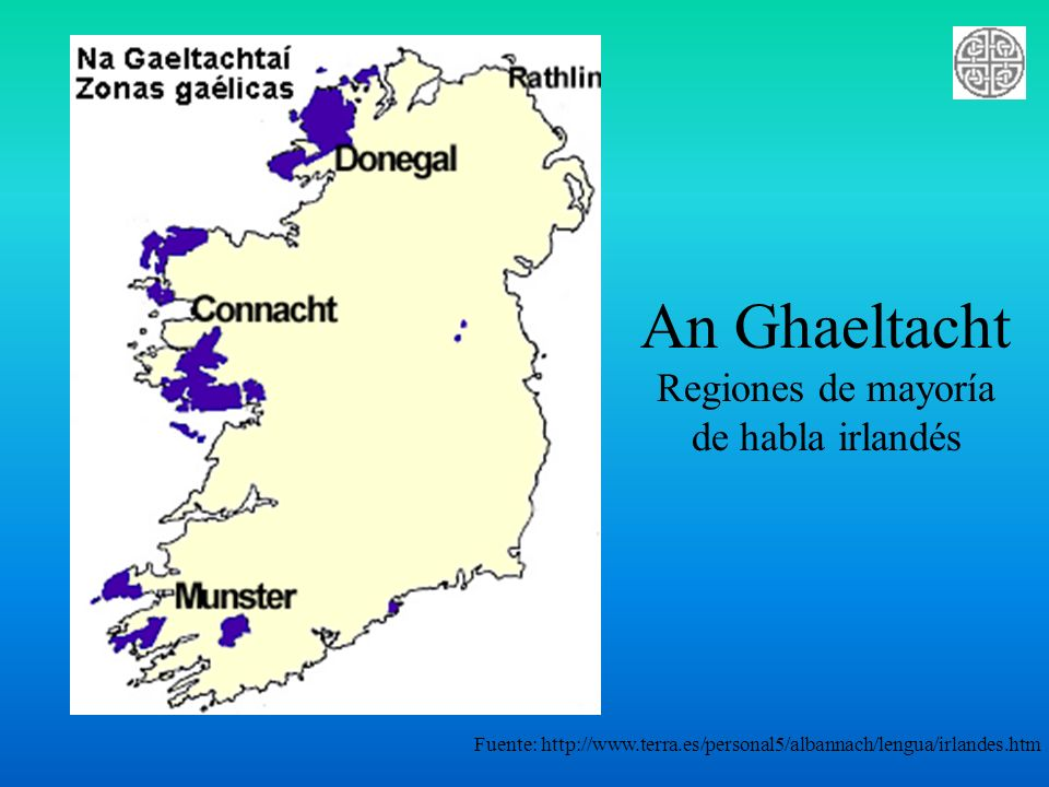 Regiones de mayoría de habla irlandés