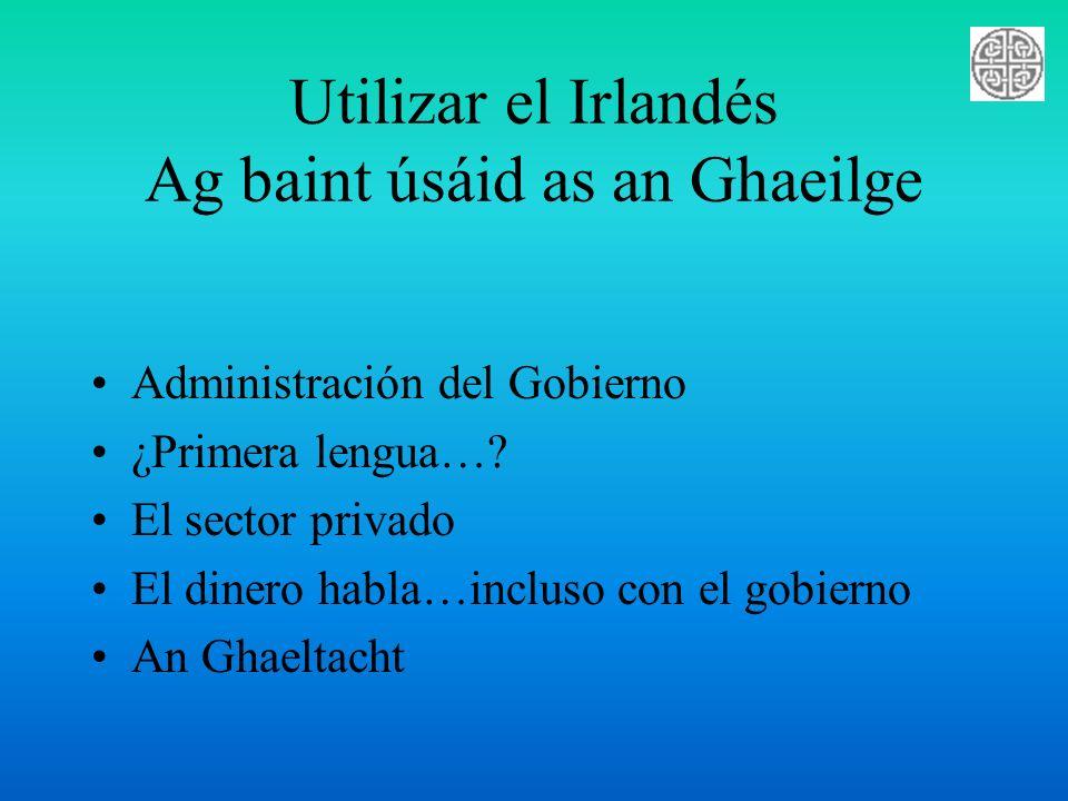 Utilizar el Irlandés Ag baint úsáid as an Ghaeilge