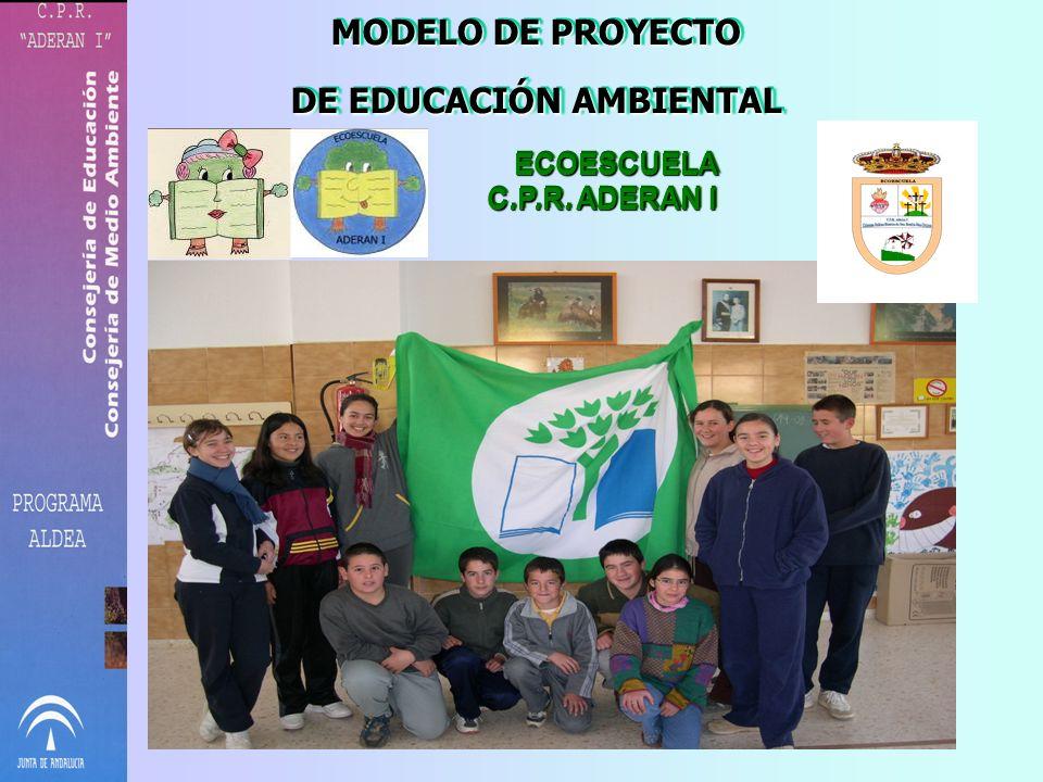 MODELO DE PROYECTO DE EDUCACIÓN AMBIENTAL