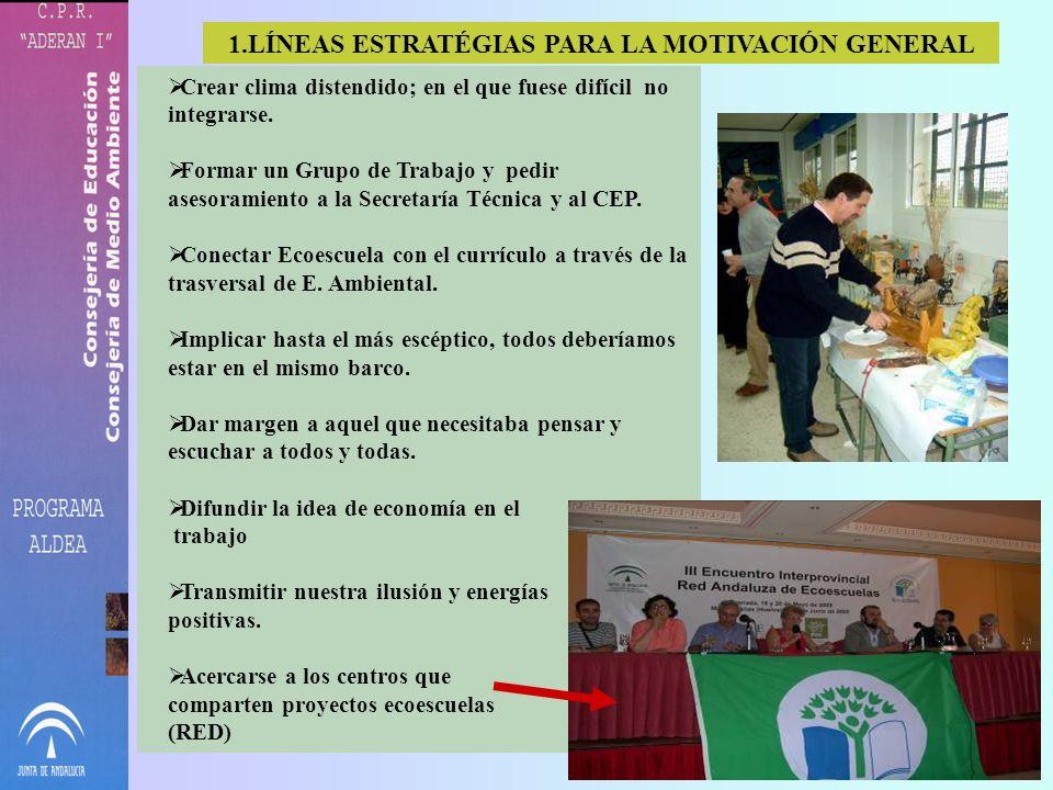 LÍNEAS ESTRATÉGIAS PARA LA MOTIVACIÓN GENERAL