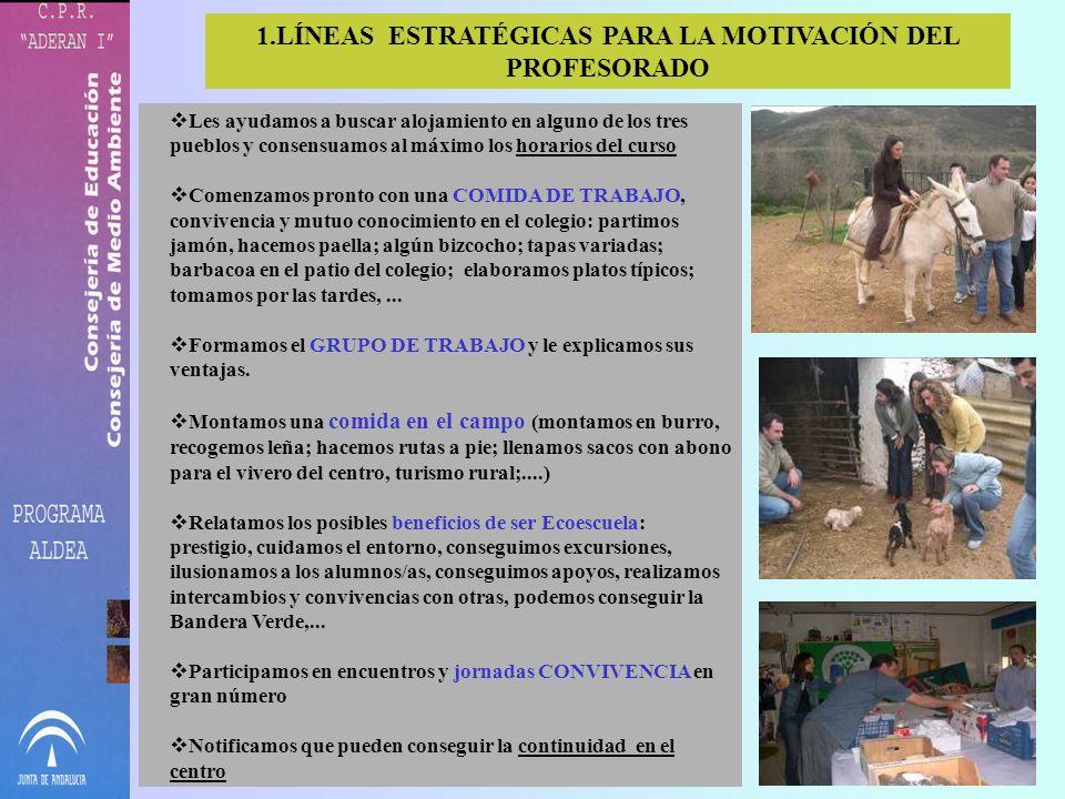 LÍNEAS ESTRATÉGICAS PARA LA MOTIVACIÓN DEL PROFESORADO