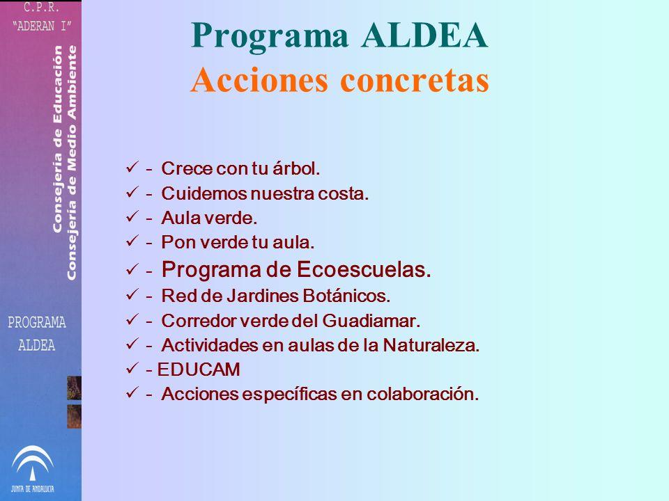 Programa ALDEA Acciones concretas