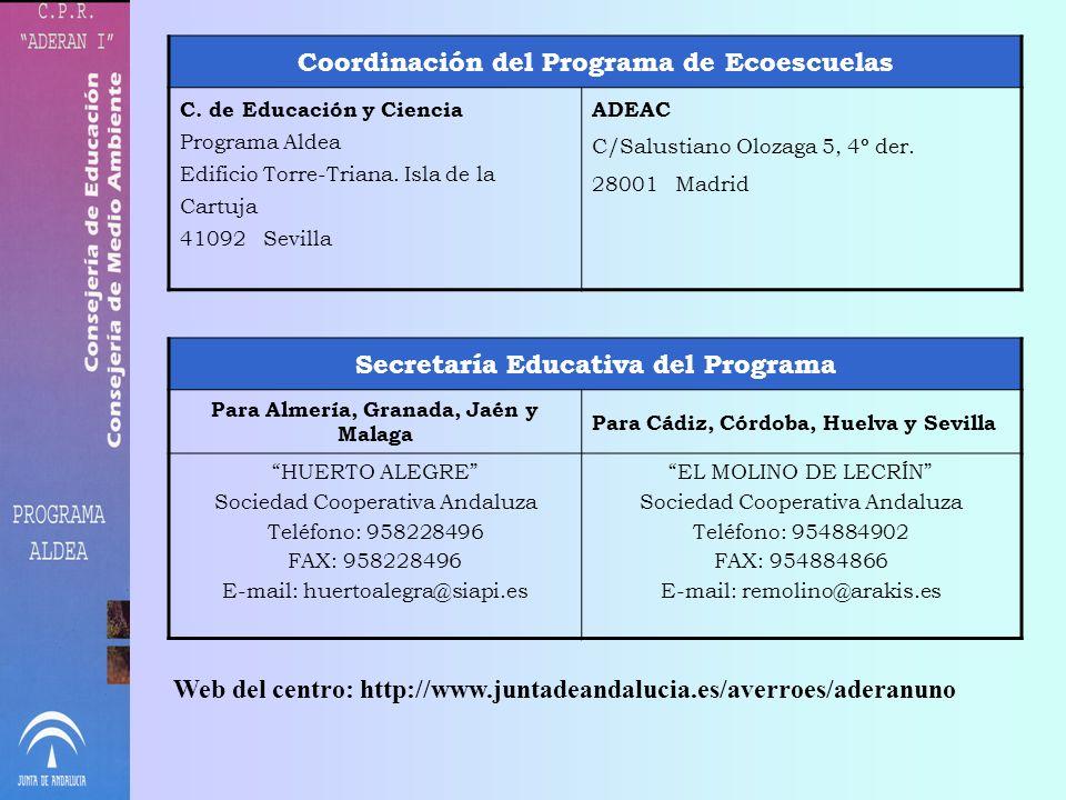 Coordinación del Programa de Ecoescuelas