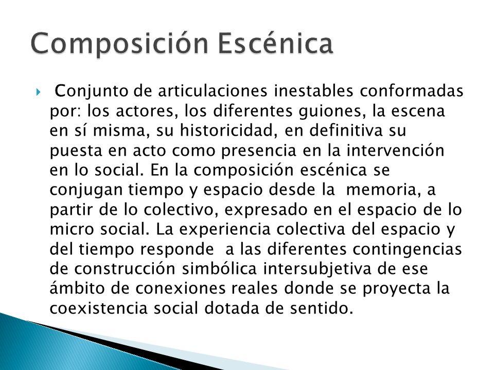 Composición Escénica