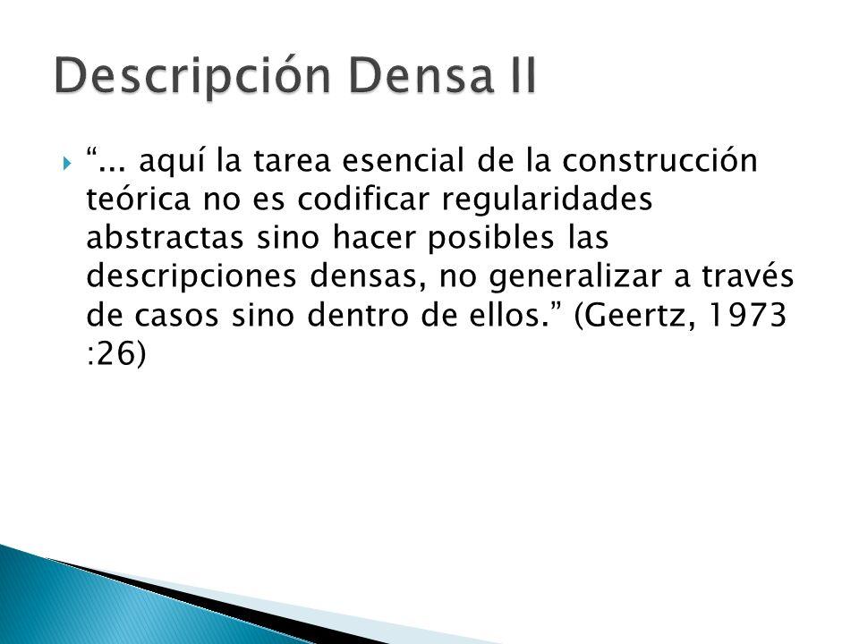 Descripción Densa II
