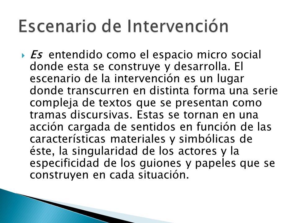 Escenario de Intervención