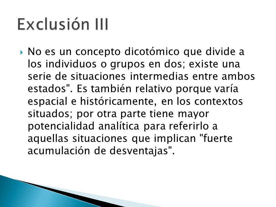 Exclusión III