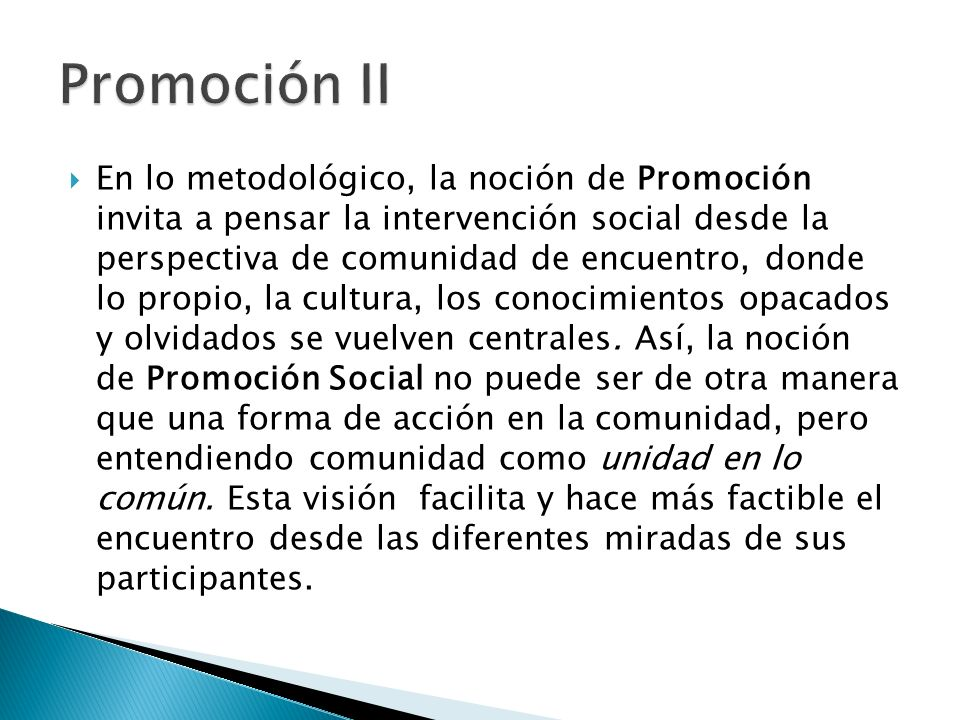 Promoción II