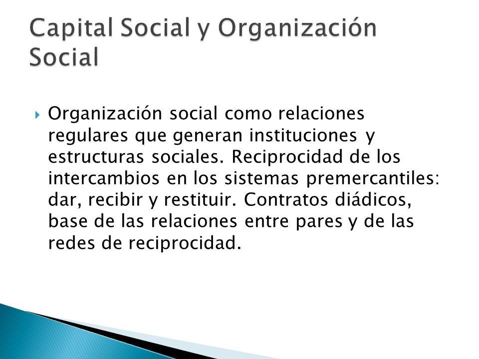 Capital Social y Organización Social