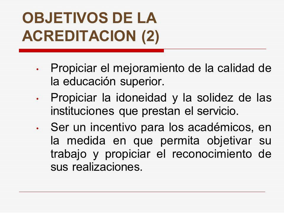OBJETIVOS DE LA ACREDITACION (2)