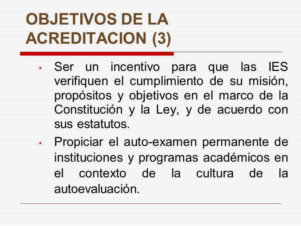 OBJETIVOS DE LA ACREDITACION (3)