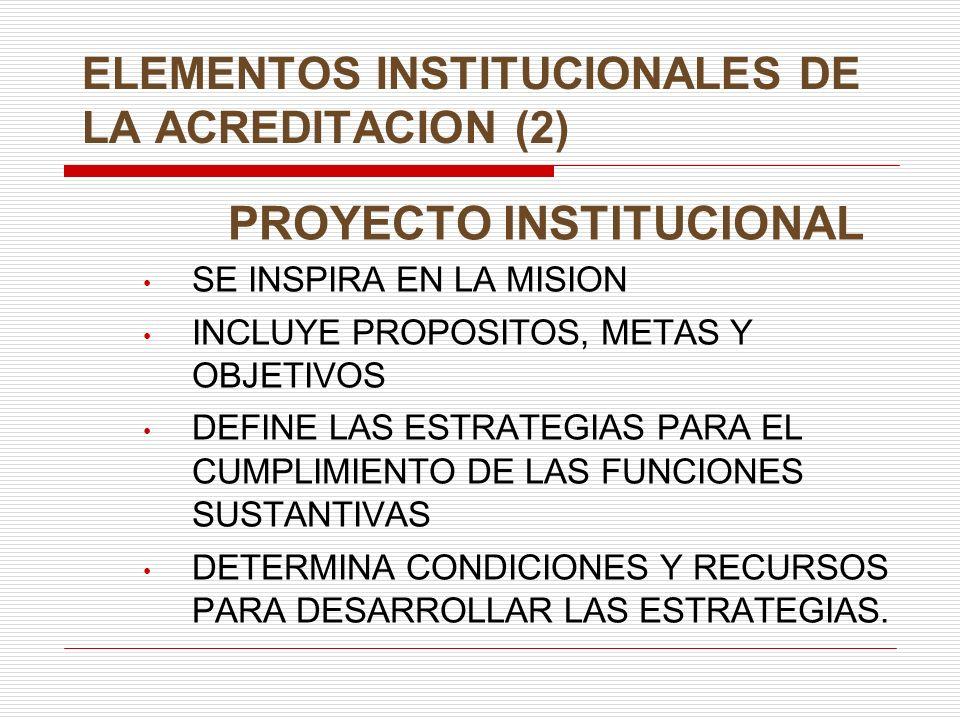 ELEMENTOS INSTITUCIONALES DE LA ACREDITACION (2)