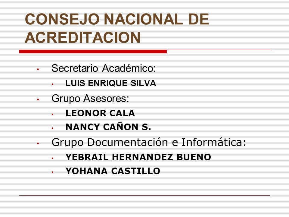 CONSEJO NACIONAL DE ACREDITACION