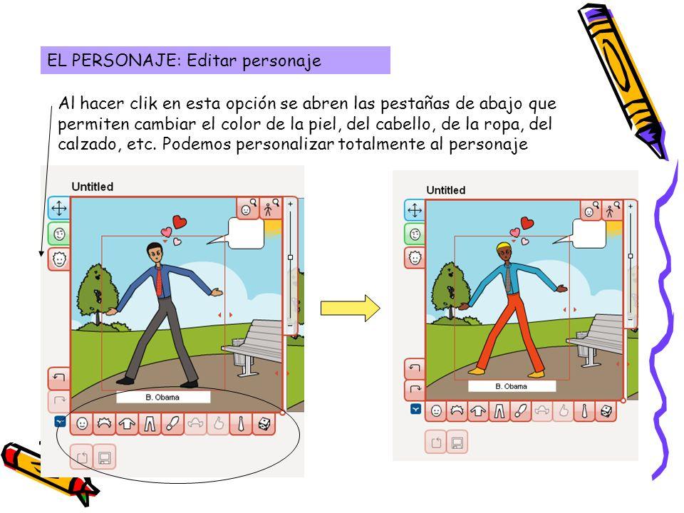 EL PERSONAJE: Editar personaje