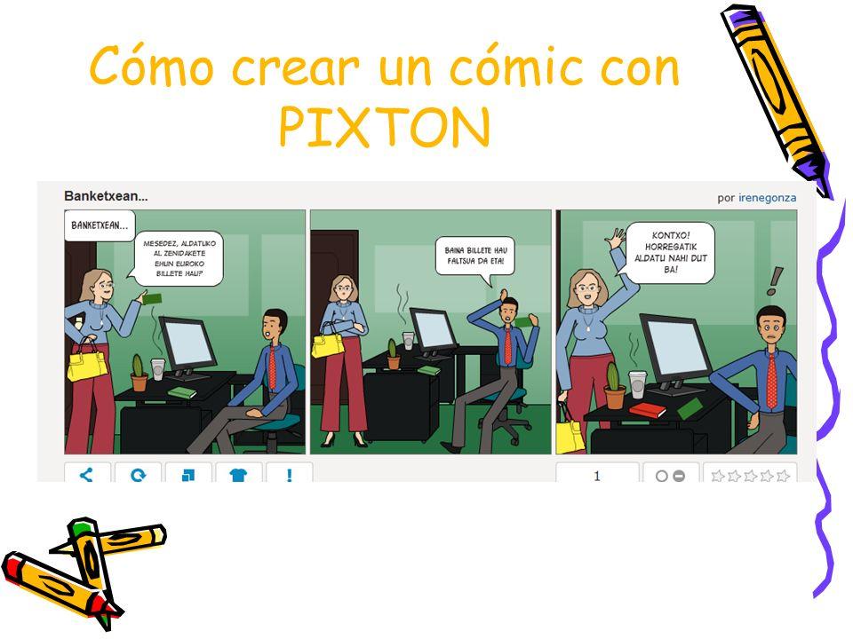 Cómo crear un cómic con PIXTON