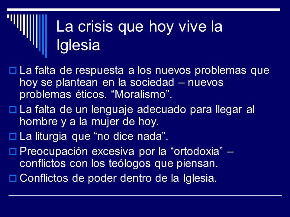 La crisis que hoy vive la Iglesia