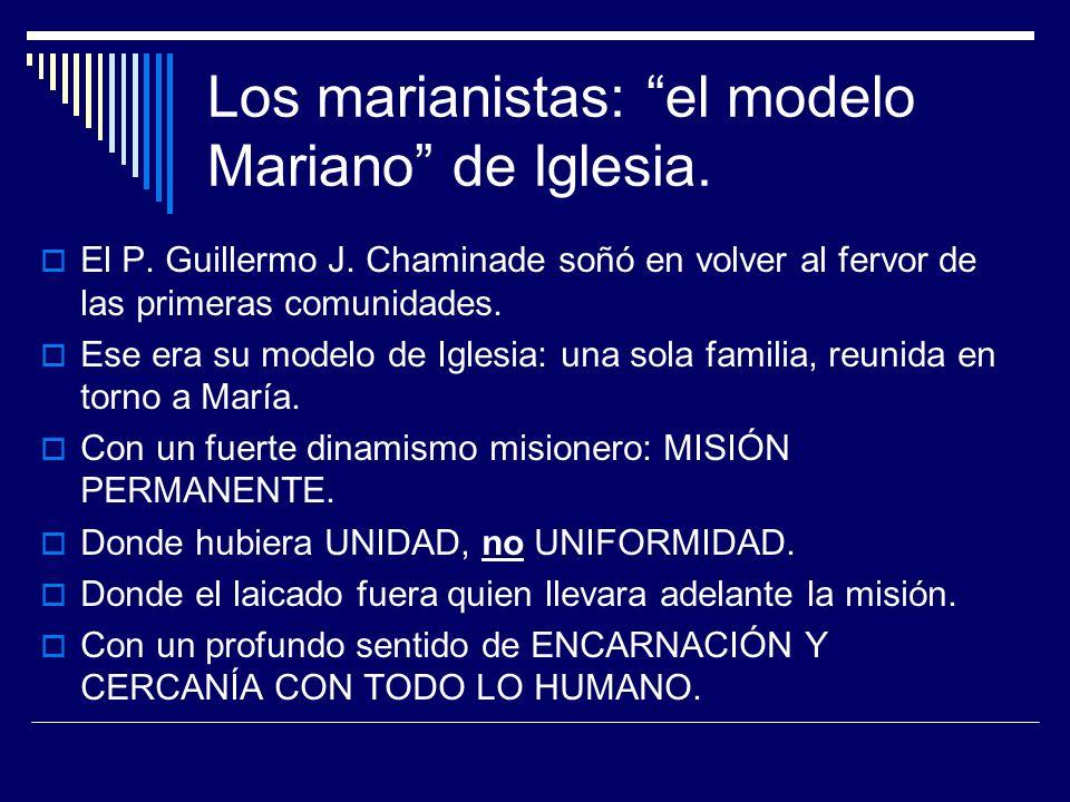 Los marianistas: el modelo Mariano de Iglesia.
