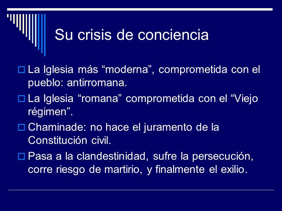 Su crisis de conciencia