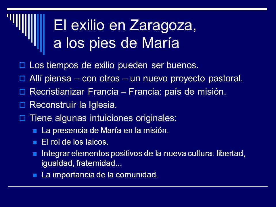 El exilio en Zaragoza, a los pies de María