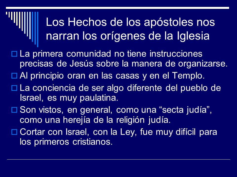 Los Hechos de los apóstoles nos narran los orígenes de la Iglesia