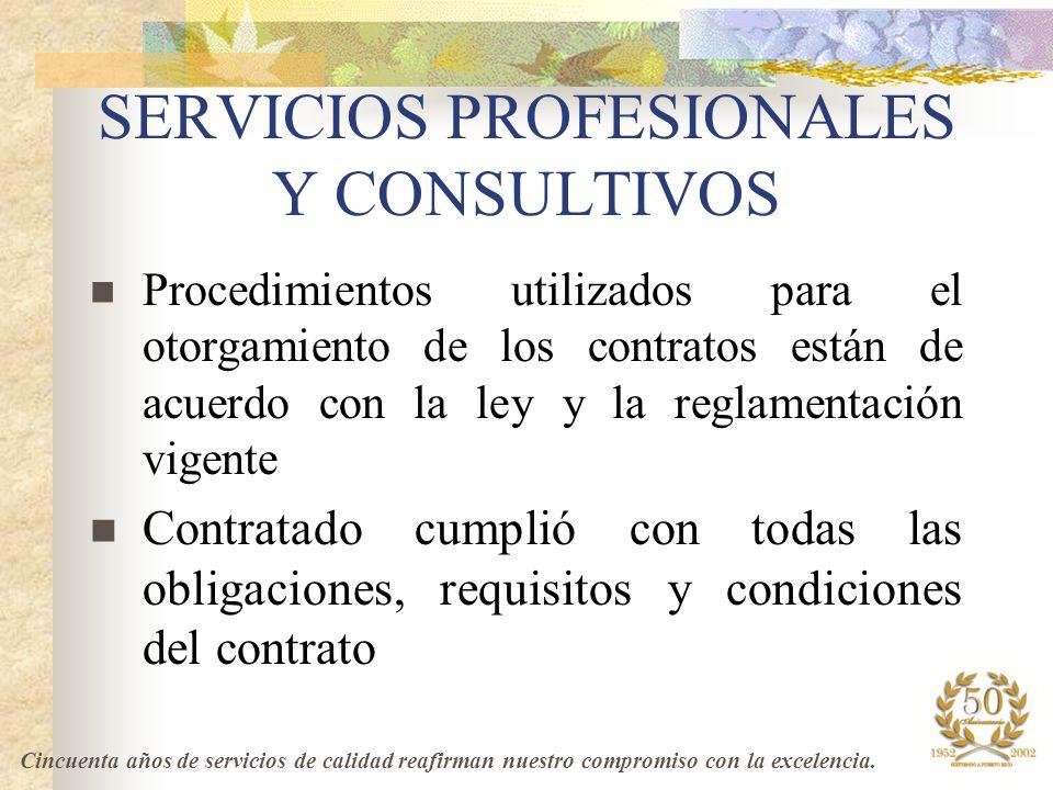 SERVICIOS PROFESIONALES Y CONSULTIVOS