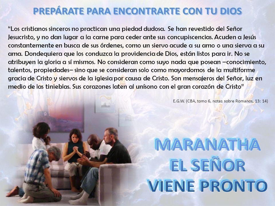 PREPÁRATE PARA ENCONTRARTE CON TU DIOS