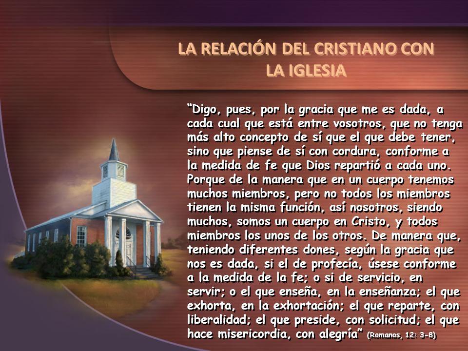 LA RELACIÓN DEL CRISTIANO CON