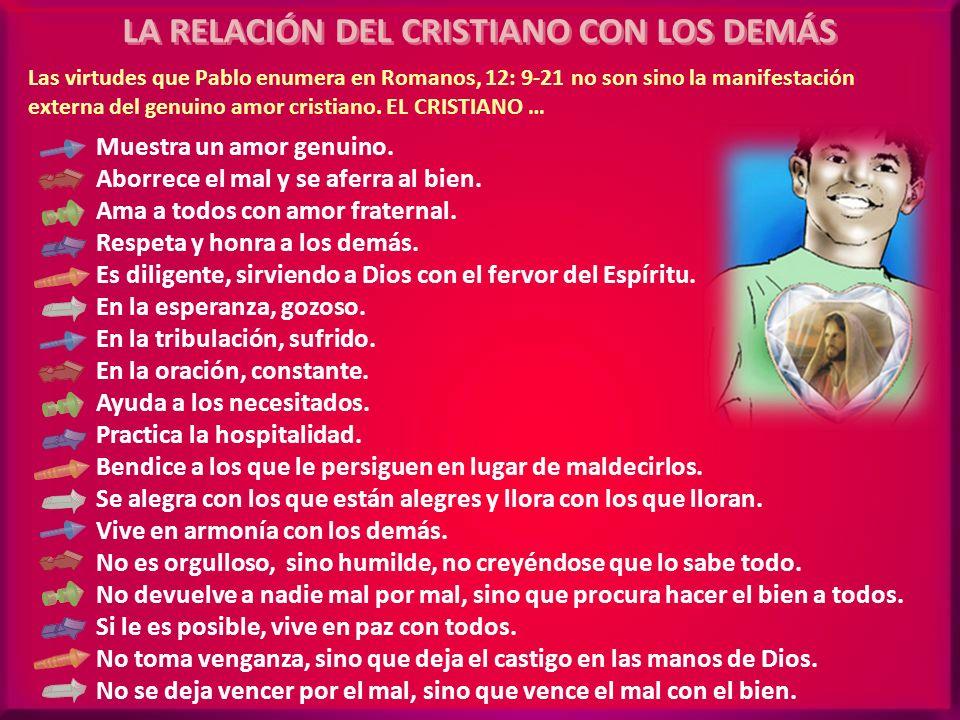LA RELACIÓN DEL CRISTIANO CON LOS DEMÁS