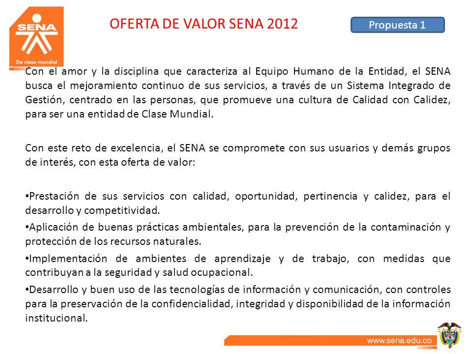 OFERTA DE VALOR SENA 2012 Propuesta 1