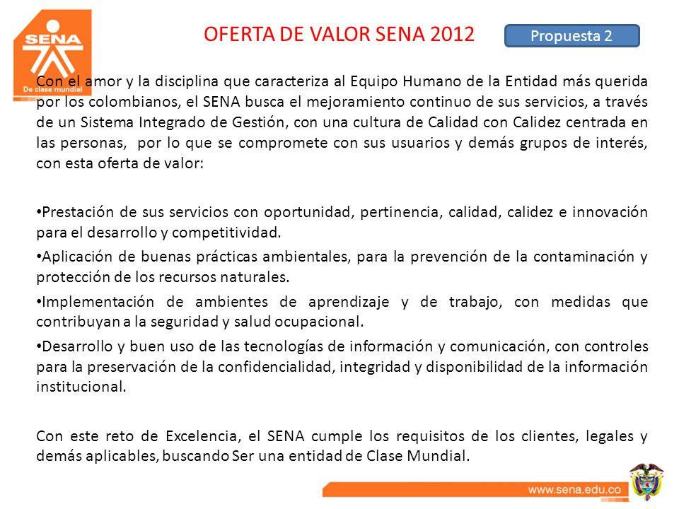 OFERTA DE VALOR SENA 2012 Propuesta 2