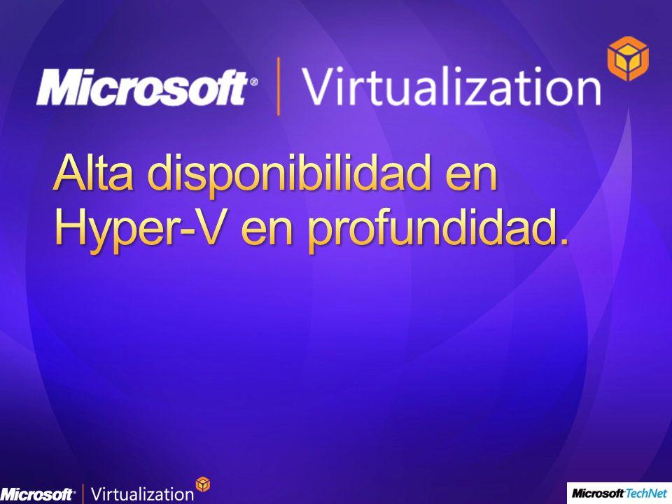 Alta disponibilidad en Hyper-V en profundidad.