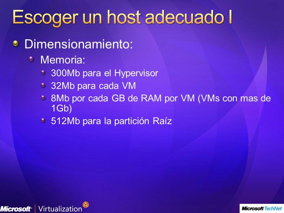 Escoger un host adecuado I