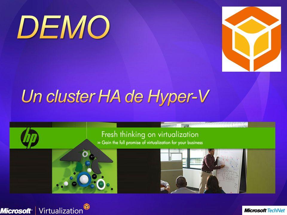 Un cluster HA de Hyper-V